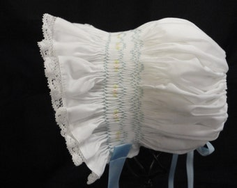 Smocked Baby Bonnet A1