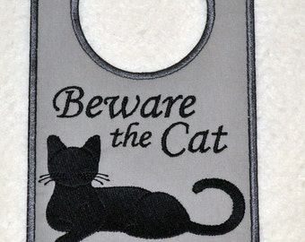 Beware The Cat Door Hanger