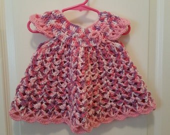 Baby girl dress - size about 9-12 mo - multi colors