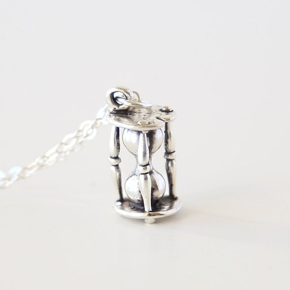 The Sterling Silver Hour Glass Necklace