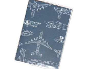 PASSPORT COVER - Drafting Airplanes