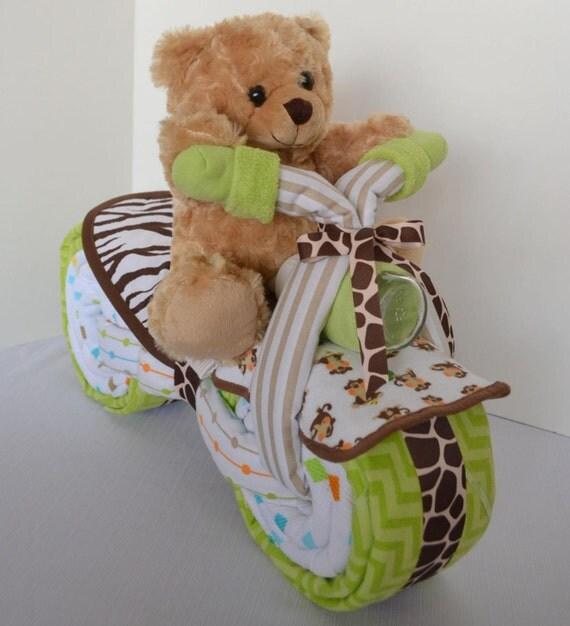 Articles similaires g teau de couches de moto baby shower gift wheeler 2 b b gar on cadeau - Gateau de couche baby shower ...