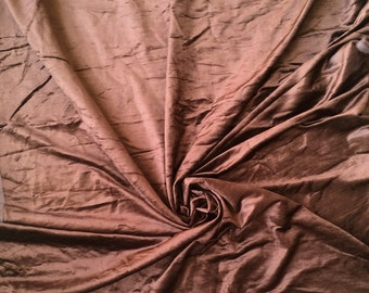 Dark Brown Cotton Viscose Velvet Fabric By the Yard Upholstery Weight Fabric Commercial Curtain Fabric Fashion Velvet Window Treatment