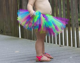 Bright Tutu Hot Pink Purple Turquoise Citrus Tutu Baby Tutu Toddler Tutu