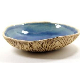 Wood Grain Ceramic Bowl