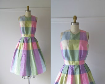vintage 1960s dress / 60s dress / Carousel Party