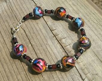 Beaded Bracelet Polymer Clay Jewelry Polymer Bracelet Clay Bracelet Gift For Her Handmade  Bracelet Bead Bracelet Handmade Jewelry