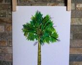 Palmetto Tree Print.  Original watercolor painting - 8x10 print