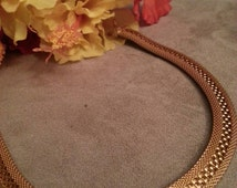 Designer HOBE Mesh And Waffle Pattern Style Choker, FREE SHIPPING, Paris Firm, Gold, Exquisite, Dress Accessory, High Quality