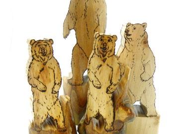 Bear Sculpture, Bear Art, Bear Figurine, Bear Décor, Bear Lover, Brown Bear, Black Bear, Grizzly Bear, Forest Animal, Wood Bear, Wooden Bear