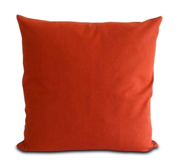 Mia & Stitch Solid Burnt Orange Cushion Covers by miaandstitch