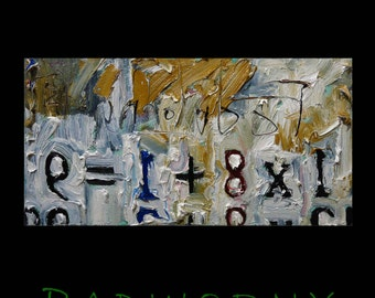 SOLD -- Oil Paint on Gallery Wrapped Stretched Canvas 12 by 24 by 1.5 in. / modern expressionism art signed realism oil deco