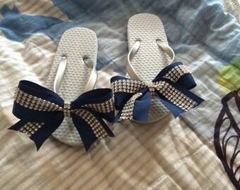 Cheer Bow Flip Flops