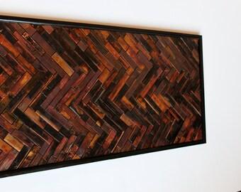 CHEVRON DESIGN ART. real copper