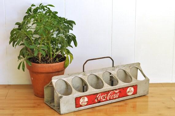 Vintage Coca Cola Bottle Carrier 12 Pack Aluminum Coke Holder