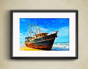 Impressionist Print - Ship