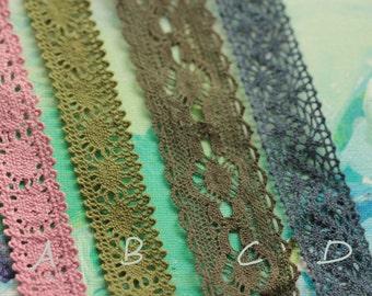 lace trim cotton lace beige cotton lace vintage lace trim