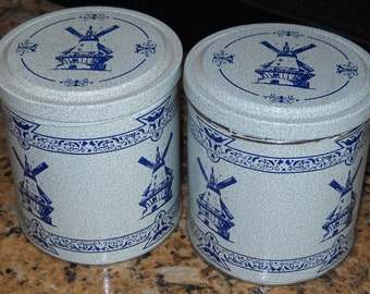 Pair of ValleyBrook Farms Tins - Dutch