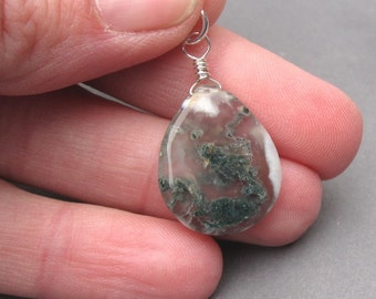Large Solar Quartz Gemstone Pendant Sterling Silver Wire Wrapped Briolette Dangle with Jump Ring Stone 22
