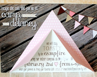 Camping Party Invitation by Beth Kruse Custom Creations