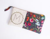 Monogram Clutch, Personalized Mom Gift, Gift for Mom, Mothers Day Gift, Gift for Her, Gift for Sister, Gift for Women MADE TO ORDER