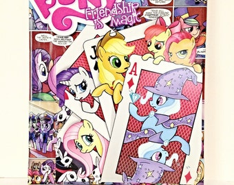 My Little Pony Collage Canvas Art, Comic Wall Decor, Children's Art--8x10 inches