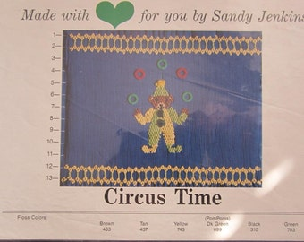 Smocking Plate - Circus Time by Sandy Jenkins (book 5)