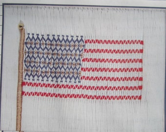 Smocking Plate - The America Flag #301 by Sandy Hunter (book 3)