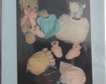 Pattern - Bibs, Booties, Bonnets and Caps Sizes 0-12 mo. -Smocking and Embroidery patterns included- By Pamela Taylor