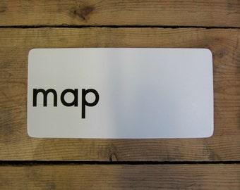 Vintage MAP Alphabet Letter Flash Card