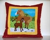 SALE, Barnyard Pillows, Farm, Kids Bedding, Horse