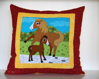 SALE, Barnyard Pillows, Farm, Kids Bedding, Horse