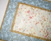 Elegant Table Runner, Dragonflies, Asian, metallic gold, fabric from Red Rooster