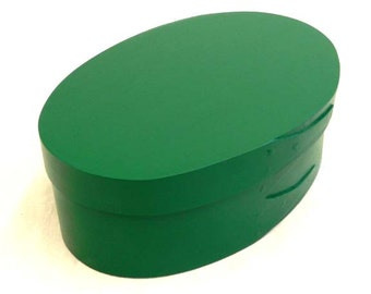 Colorful shaker oval box