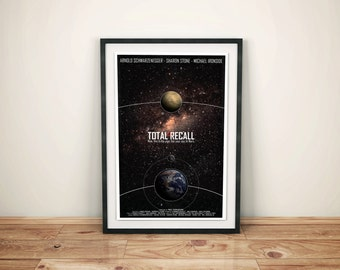 Memories of a Lifetime // Total Recall: Science Fiction Cult Movie Poster // Space, Stars, Planet and Quote Poster