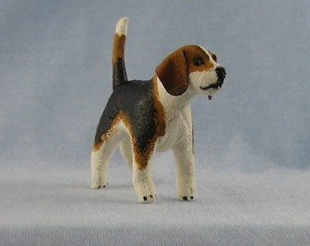 Beagle Soft Sculpture Miniature Dog by Marie W. Evans