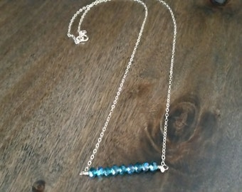 Turquoise Crystal Bead Gold Filled necklace