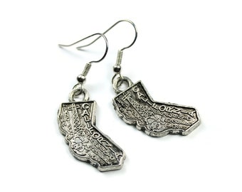 "Earrings - Handmade - Charming Style - State Charms - California ""City of Angels"""
