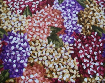SALE - Fabric Destash -  Burgundy Lilac Print REMNANTS