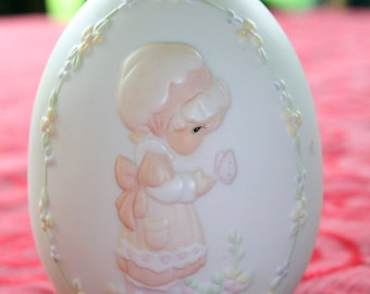 "1992 Precious Moments Easter Egg ""We Are God's Workmanship"""