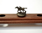 Blanton's Whiskey Bottle Stopper Stand Handmade in Solid Walnut-Holds 8 Stoppers