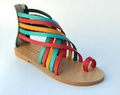 Leather sandals18 COLOURS !!! Greek sandals 100% handmade! Strap sandals! Gladiator sandals! Ancient Greek Sandals, Womens gladiator, boho