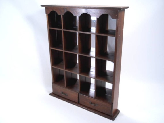 Shadow Box Mirror Curio Shelf Vintage 80s