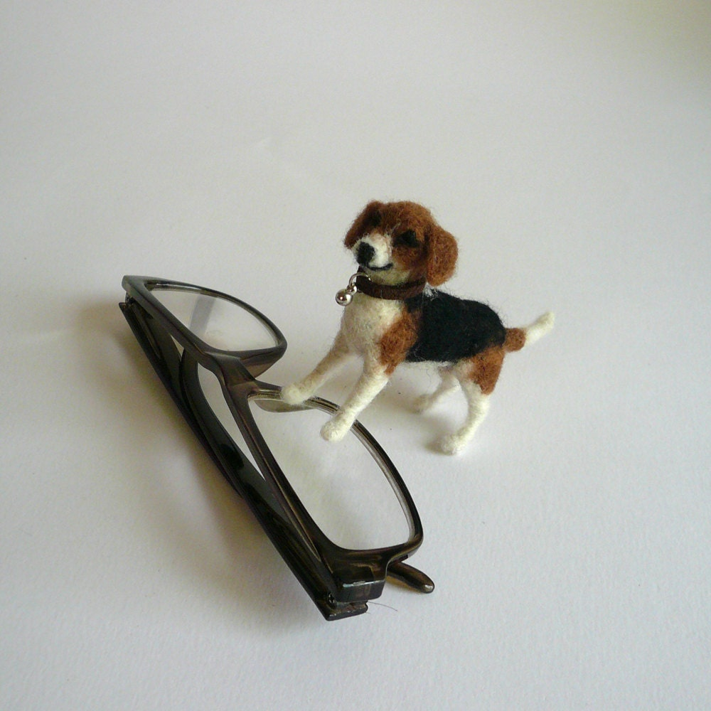 Needlefelted Dog's Miniature 1:12 Scale/Dog Miniatures/