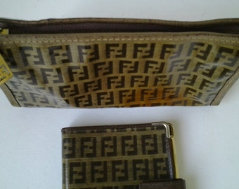 Pouch and agenda Fendi from 70s