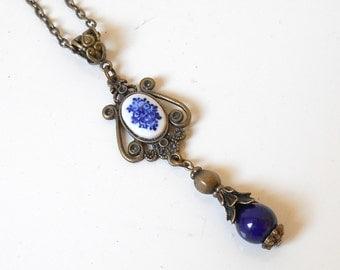 delft blue pendant necklace delft blue jewelry delft delft blue necklace blue necklace pendant necklace