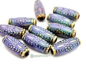 Daisy Mood Beads, 2pc Polymer Mood Beads, 11x25mm, Color Changing Thermo-Sensitive Beads (MB12)