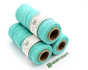 Teal Hemp Cord, Teal Green Craft Cord, 1mm Hemp Twine
