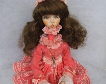 Melita Art doll OOAK doll Human figure doll Collecting doll  Clay doll Hand made doll