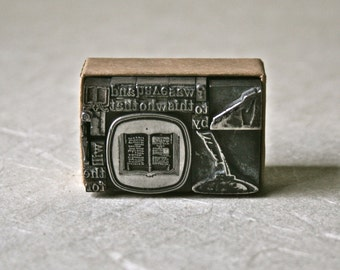 Literary Letterpress Type Collection for Printing Stamping and Decor